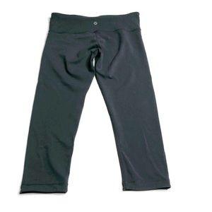 Lululemon Grey Capri Leggings Pants Flawed 6